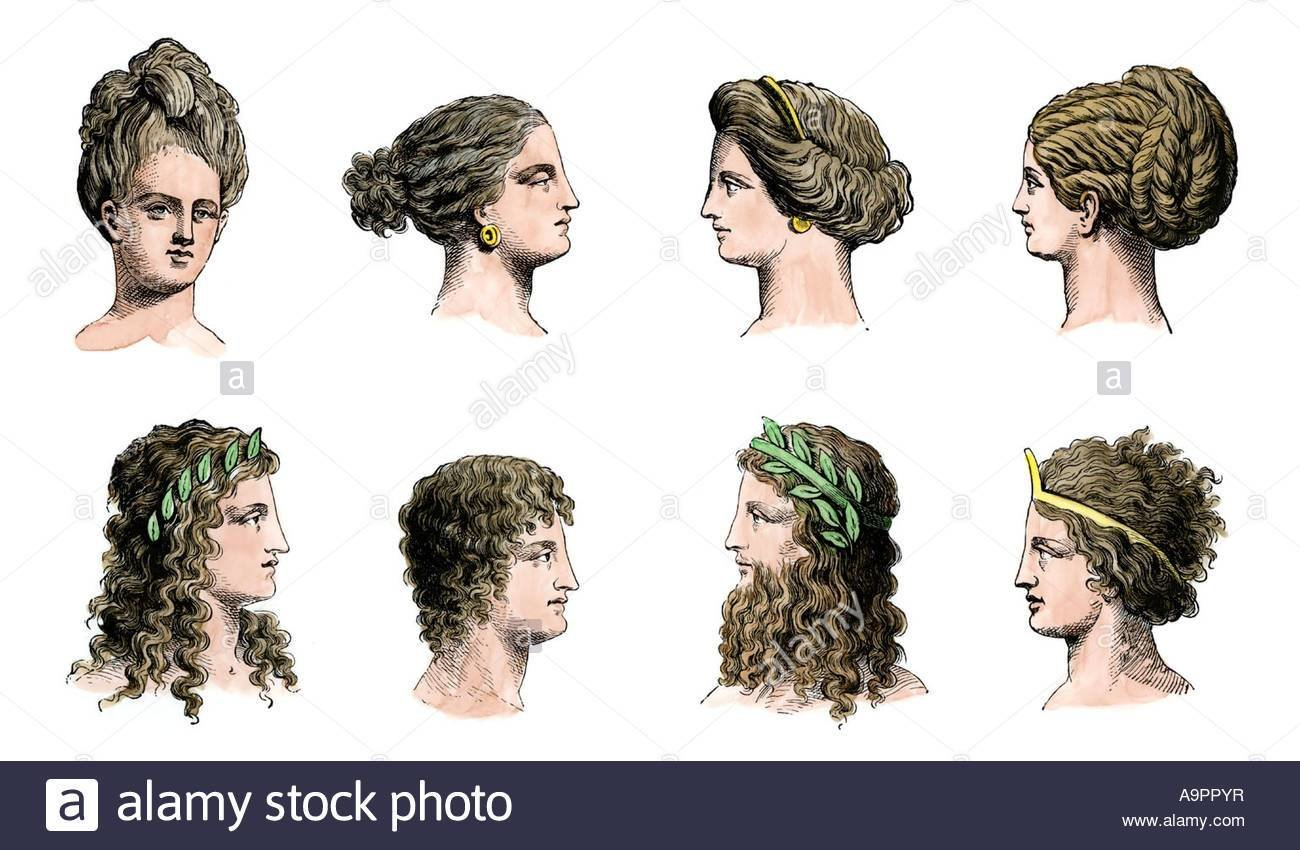 The Best Ancient Greek Hairstyles Of Women Top Row And Men Bottom Pictures