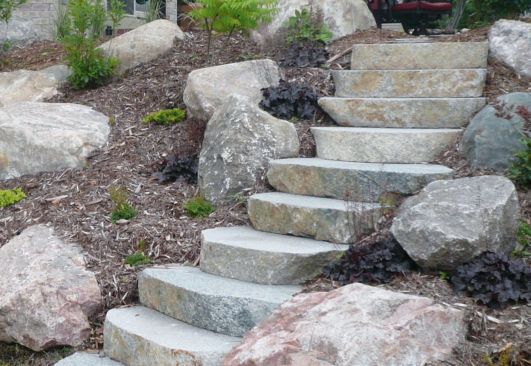 The Best Glacial Ridge Cut Boulder Steps Duro Rock Supply Co Pictures