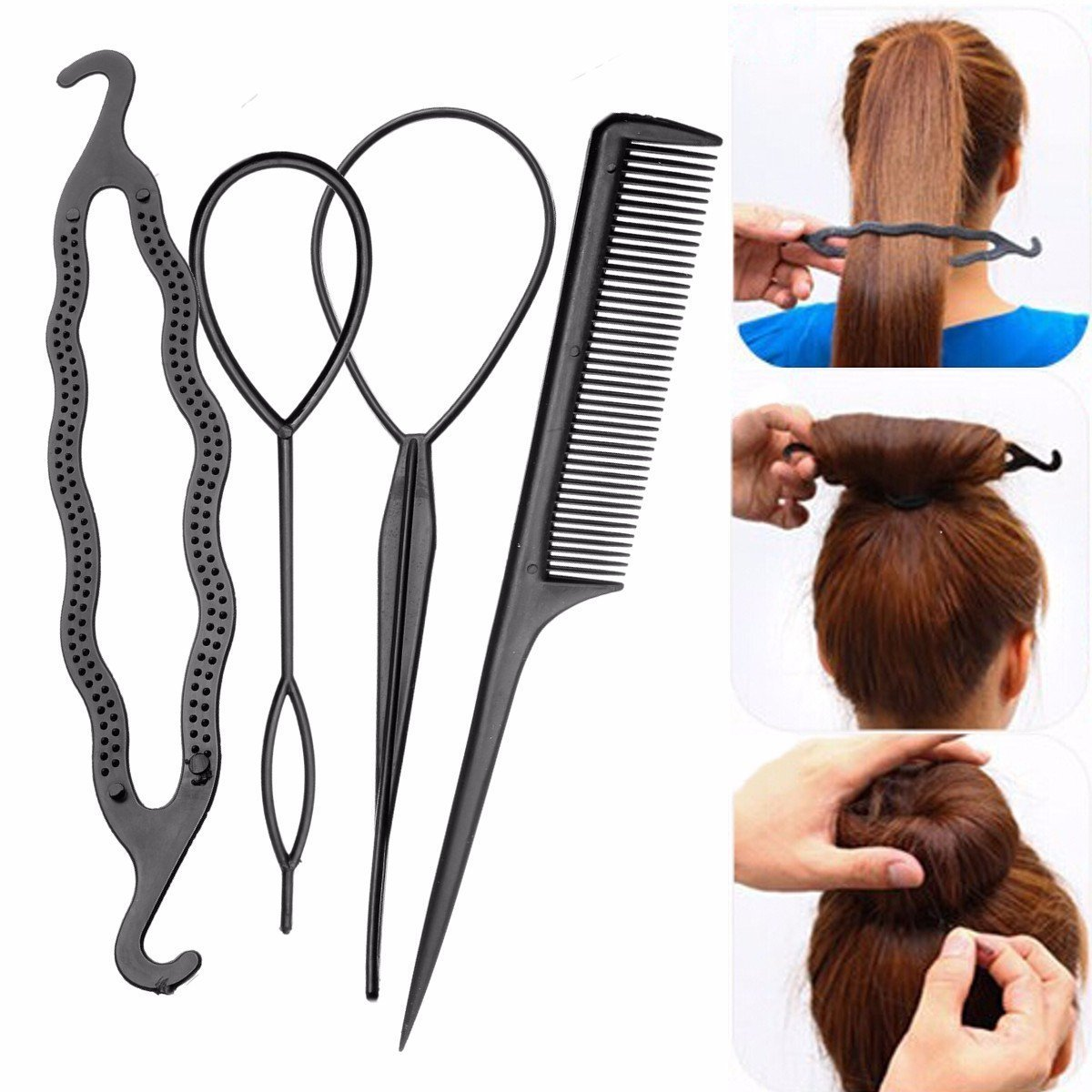 The Best Hair Braid Tool Twist Styling Clip Stick Bun Maker Comb Pictures