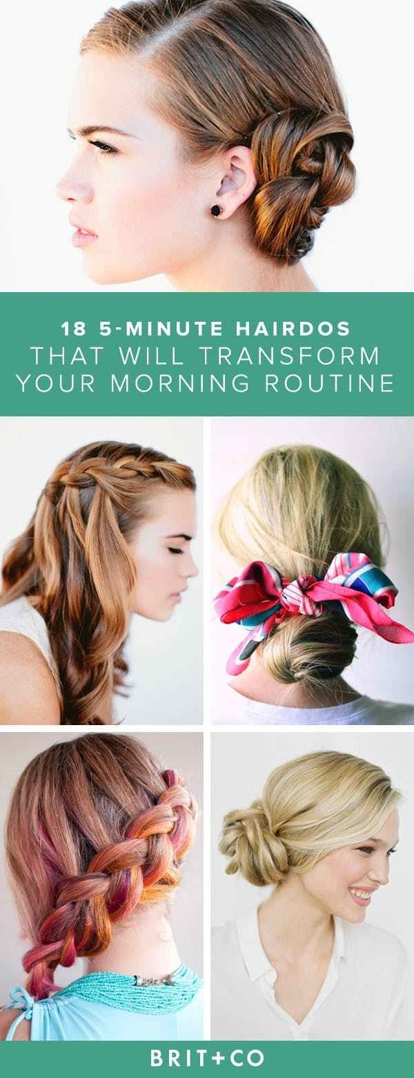 The Best 25 5 Minute Hairdos That Will Transform Your Morning Pictures