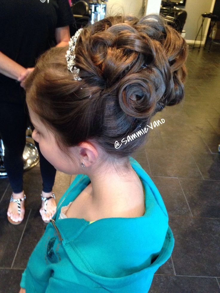 The Best Communion Girl Updo Upstyle Hair My Work In 2019 Hair Pictures