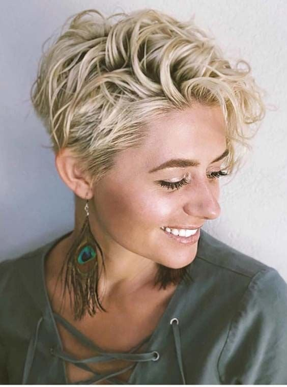 The Best 46 Best Short Curly Blonde Haircuts For 2018 Curly Wavy Pictures