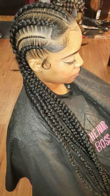 The Best 50 Best Black Braided Hairstyles For African Women 2017 Pictures