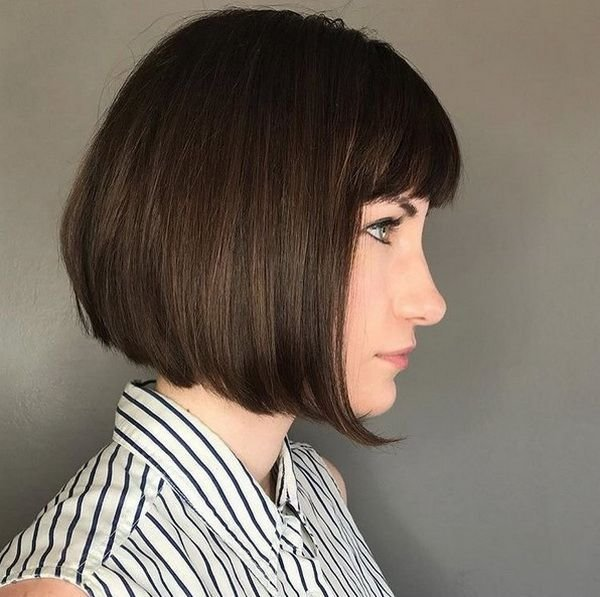 The Best Short Blunt Bob Haircuts 2018 2019 With Fringe Pictures