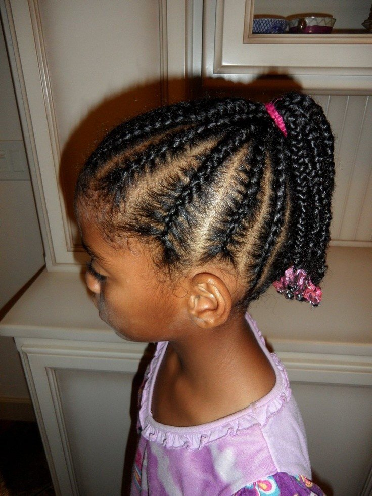 The Best Cornrows Into Ponytail Hairstyles Hair Styles Girl Pictures