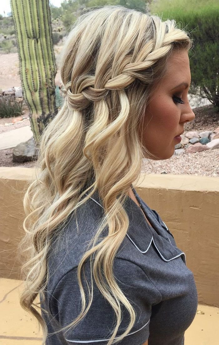 The Best Best 25 Waterfall Braid Prom Ideas On Pinterest Pictures