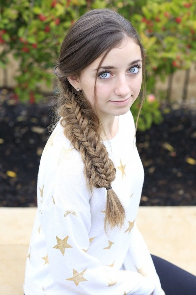 The Best Messy Split Fishtail Braid Cute Girls Hairstyles Cute Pictures