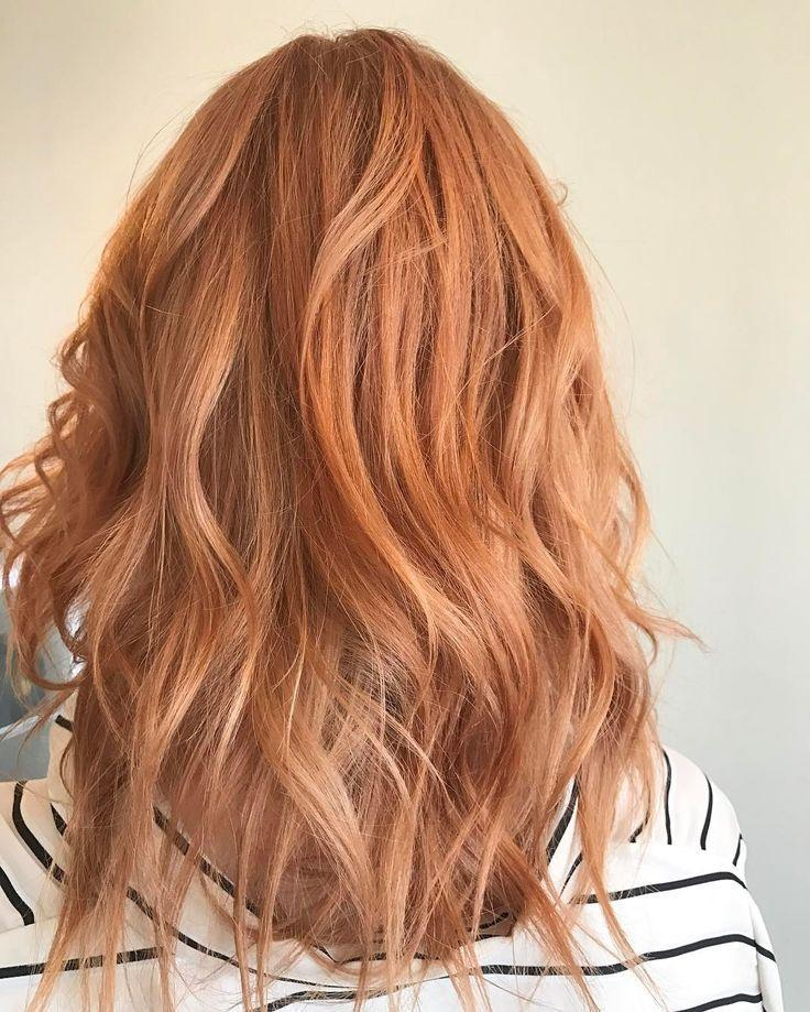 The Best Pretty Peach Rose Gold Strawberry Blonde By Aveda Artist Pictures