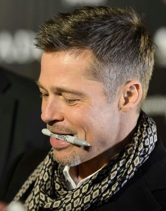 The Best Brad Pitt I Love How He Holds The Pen Signing Pictures