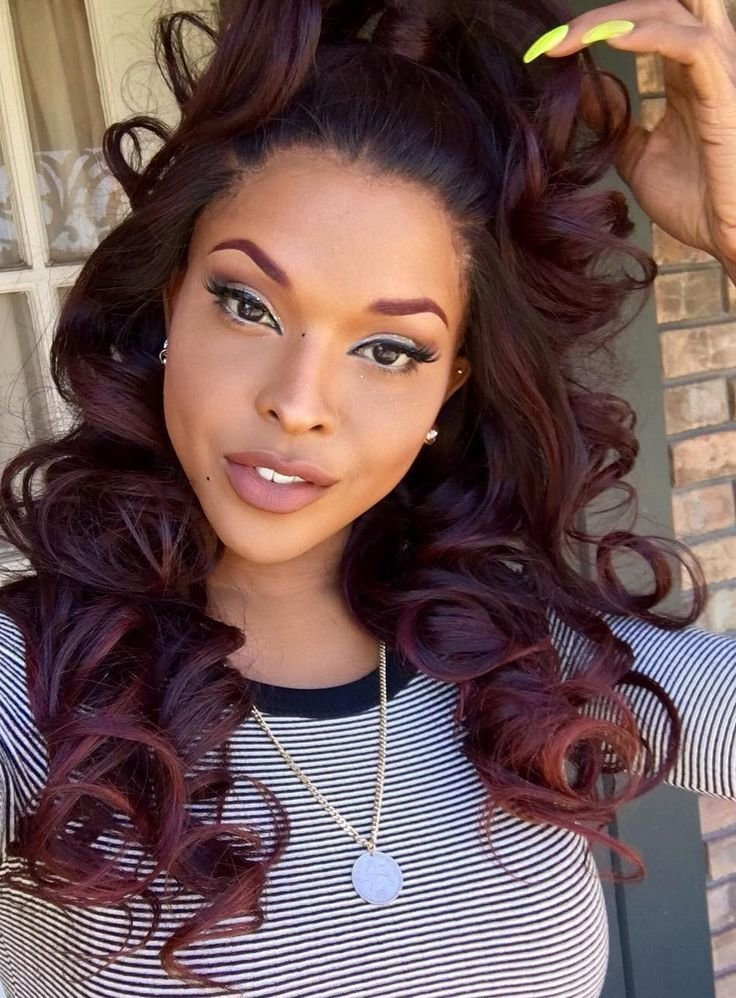The Best 25 Unique Red Weave Hairstyles Ideas On Pinterest Red Pictures
