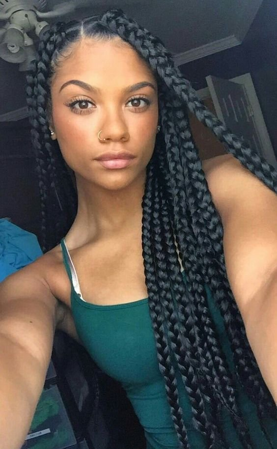 The Best 42 Chunky Cool Jumbo Box Braids Styles In Every Length Pictures