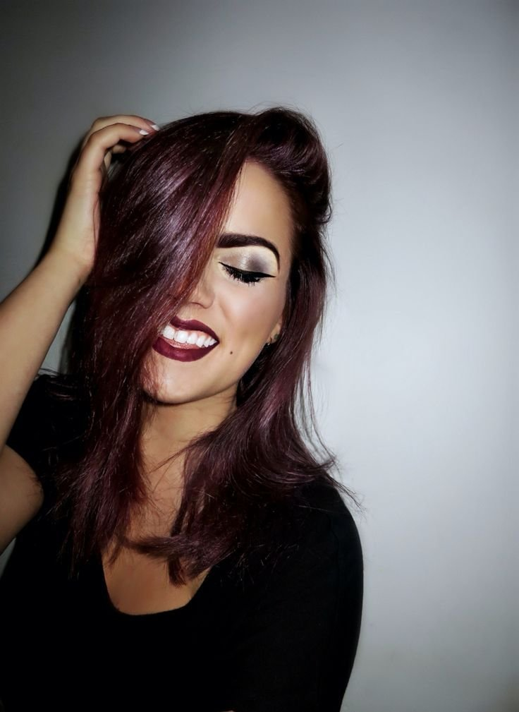 The Best Aubergine Hair Color She Curled Up And Dyed Aubergine Pictures