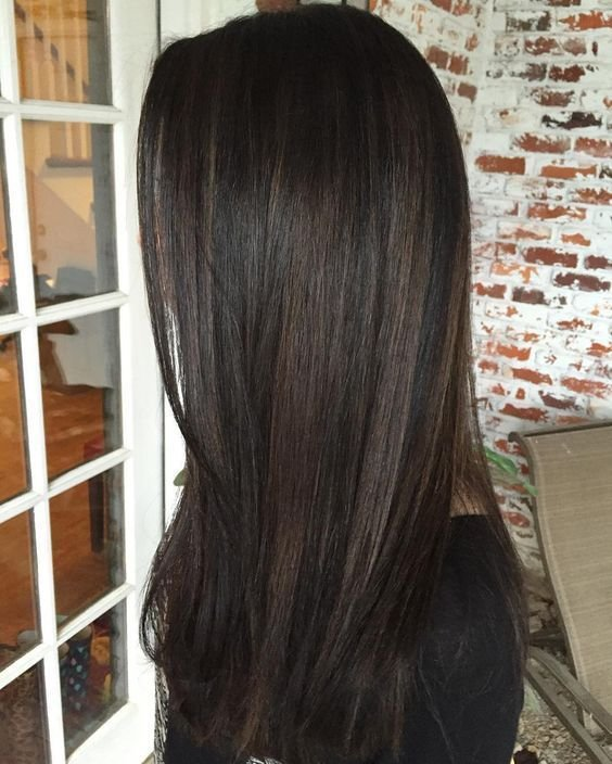 The Best 10 Black Hair With Chestnut Highlights Styleoholic Pictures