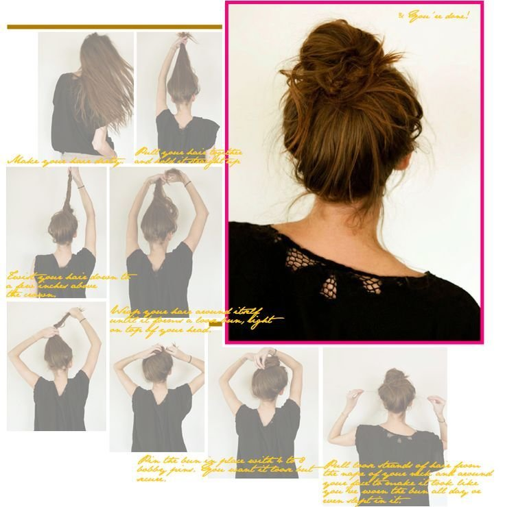 The Best A Perfectly Messy Bun Tutorial I Could Never Get My Messy Pictures