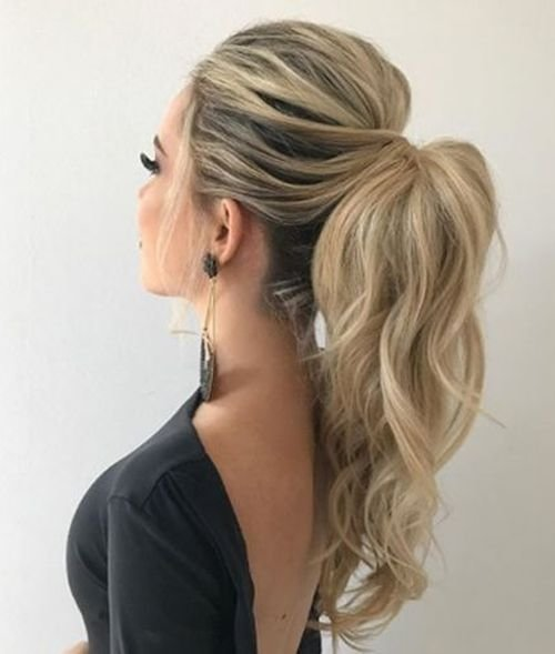 The Best 15 Of The Most Preferred Long High Pony Hairstyles 2019 For Prom Wedding Pony Hairstyles Pictures