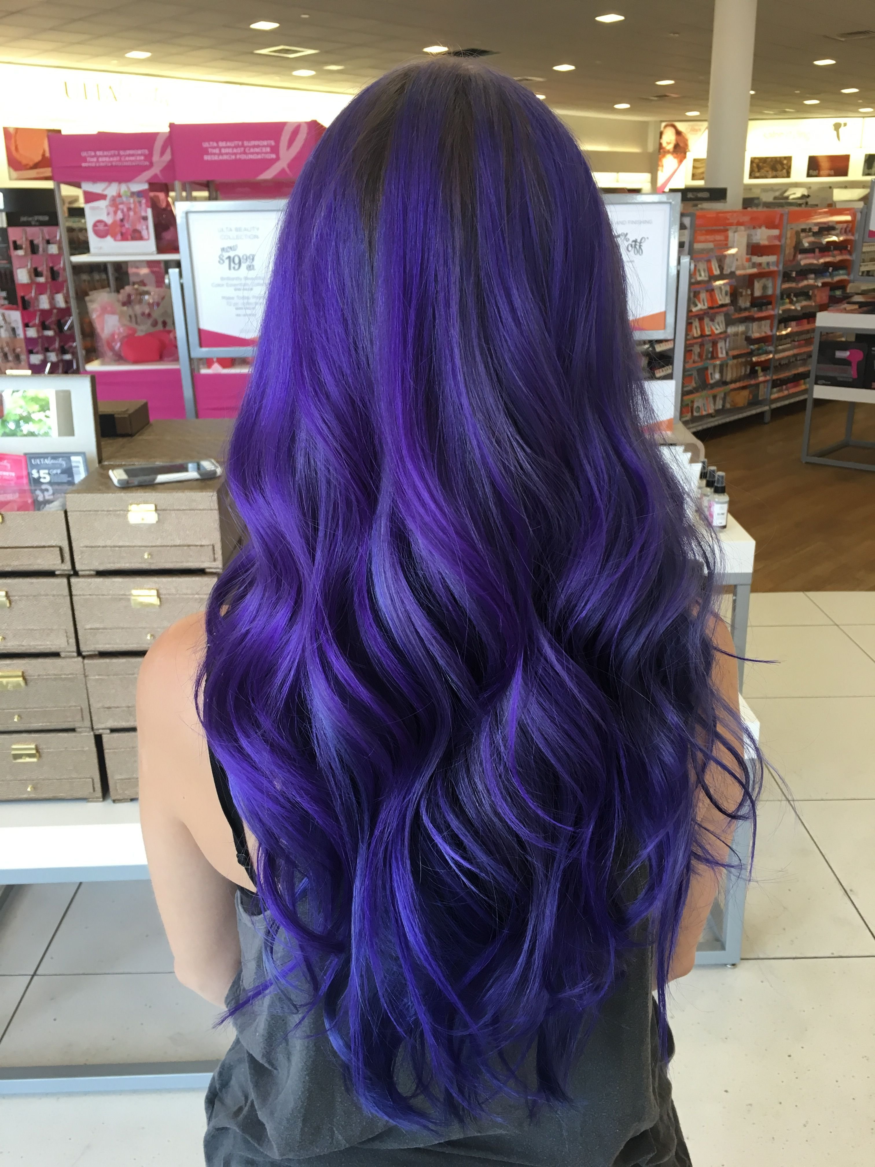 The Best Indigo Purple Blue Hair Done With A Mix Of Pravana Vivids Pictures