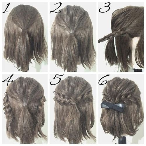 The Best Half Up Hairstyle Tutorials For Short Hair Hacks Pictures