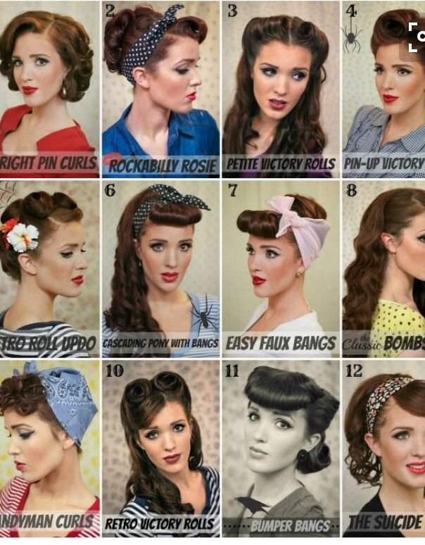 The Best Costume Hair Sock Hop Rockabilly Hair Pin Up Hair 50S Hairstyles Pictures