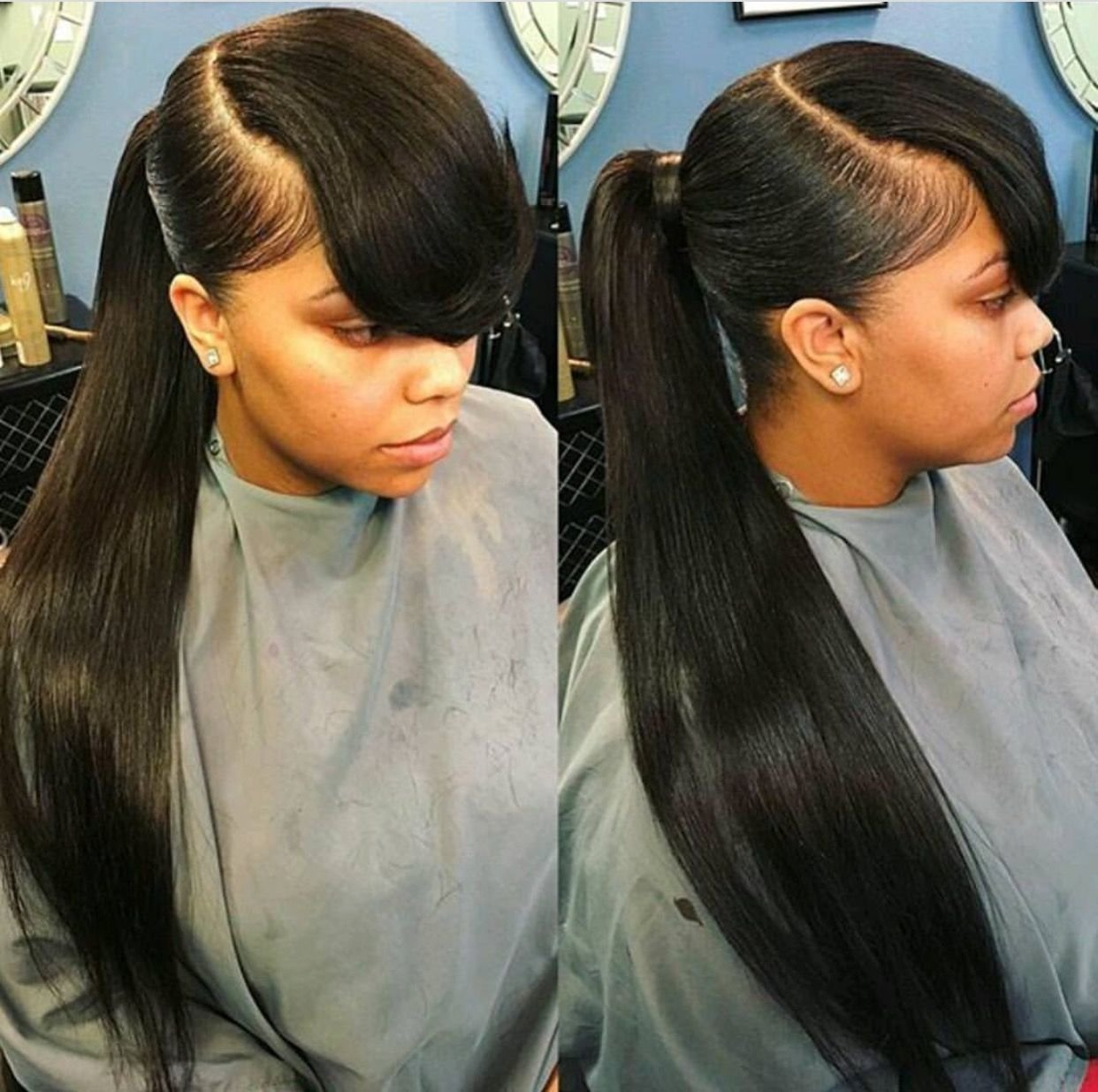 The Best Theextramile Long Pony And Bangs Natural Hair Pictures