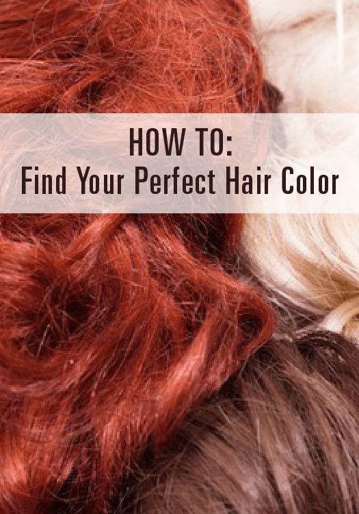 The Best How To Find Your Perfect Hair Color Hair Coloring Sick Pictures
