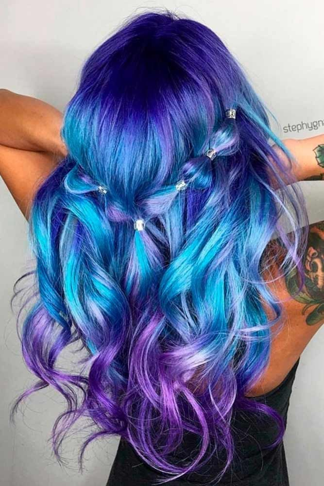 The Best 30 Trendy Styles For Blue Ombre Hair Magical Hair Colors Pictures