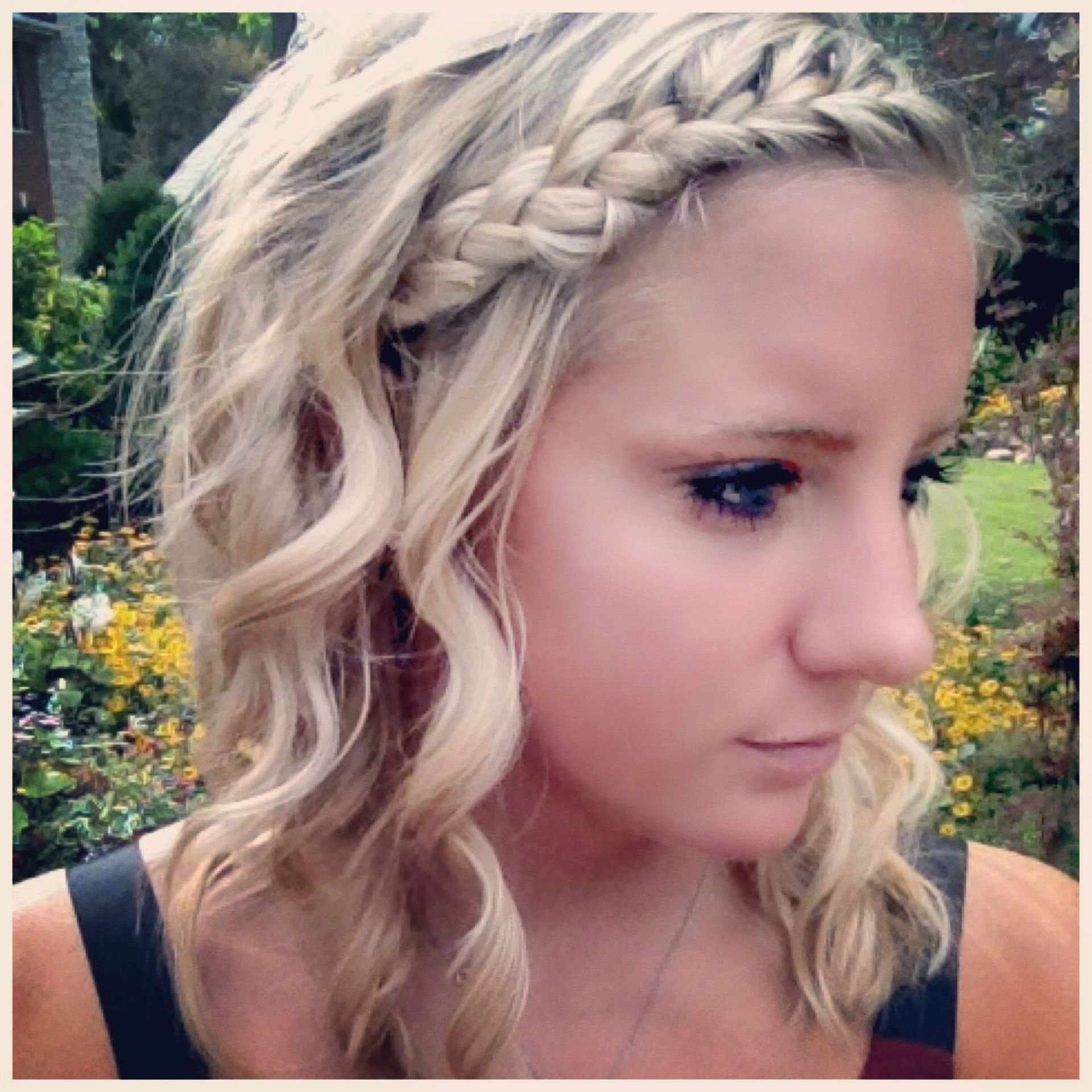The Best Easy Hairdo With French Braid And Curling Wand Curl Pictures