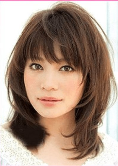 The Best Medium Hairstyles With Bangs For Fine Hair Wispy Medium Pictures
