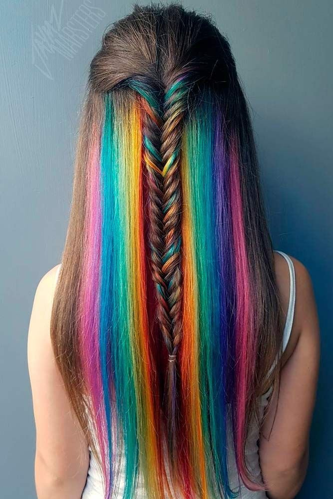 The Best 18 Mesmerizing Hidden Rainbow Hair Hair And Beauty Pictures