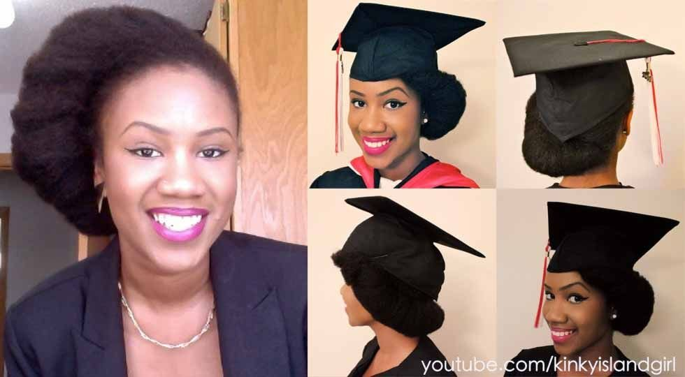 The Best How To Wear Natural Hair Underneath Graduation Cap Kyss My Hair Kyss My Hair Natural Hair Pictures