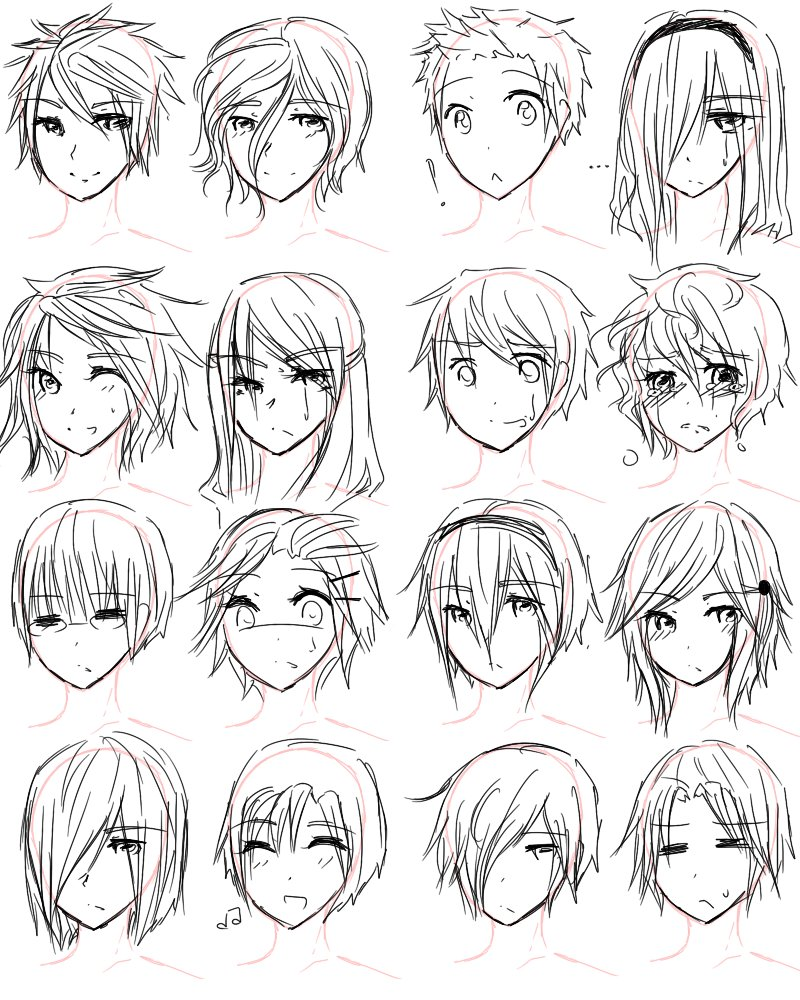 The Best How To Draw Anime Hairstyles For Girls Guy Hairstyles By Pictures