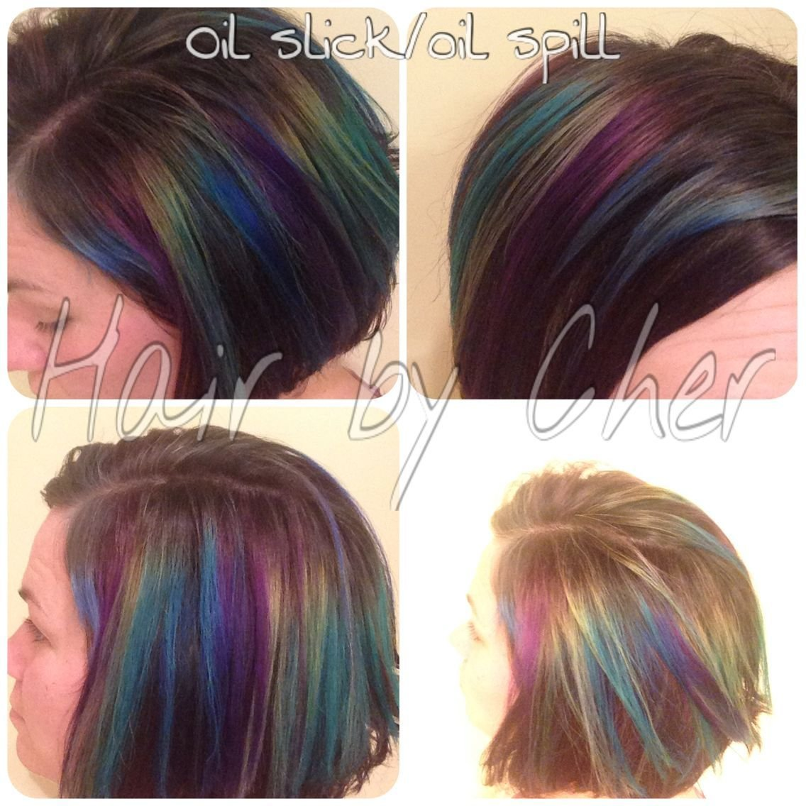 The Best Hair Color Transformation Fashion Colors Oil Slick Oil Pictures