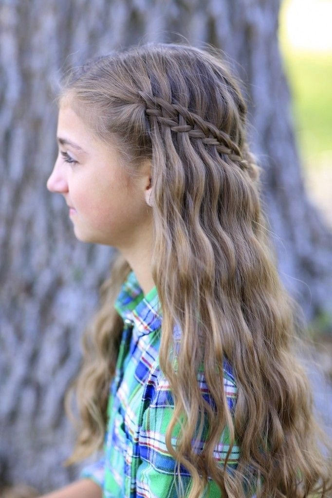 The Best Scissor Waterfall Braid Combo Cute Girls Hairstyles Pictures