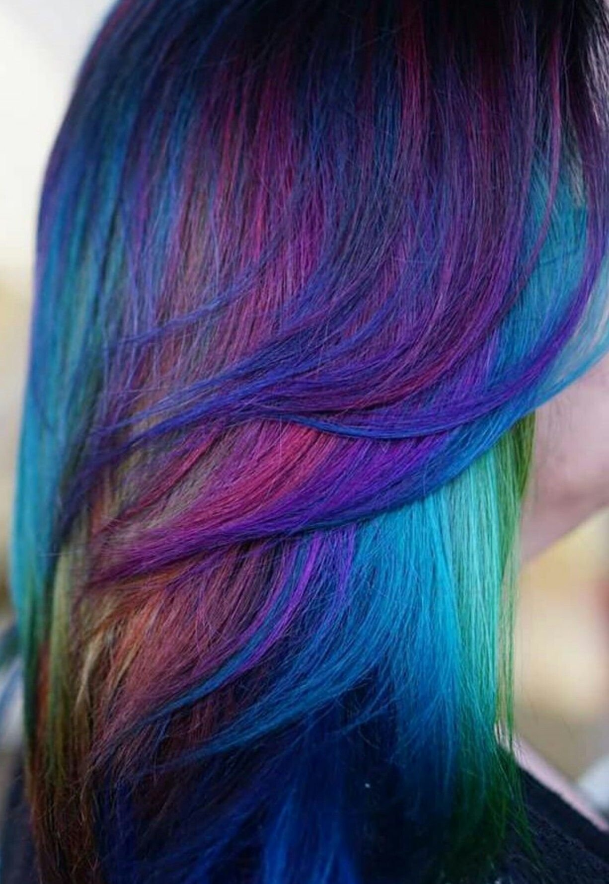 The Best Blue Mixed Multi Dyedhair Inspiration Hairspiration Alix Maya Colorful Hair Pinterest Pictures