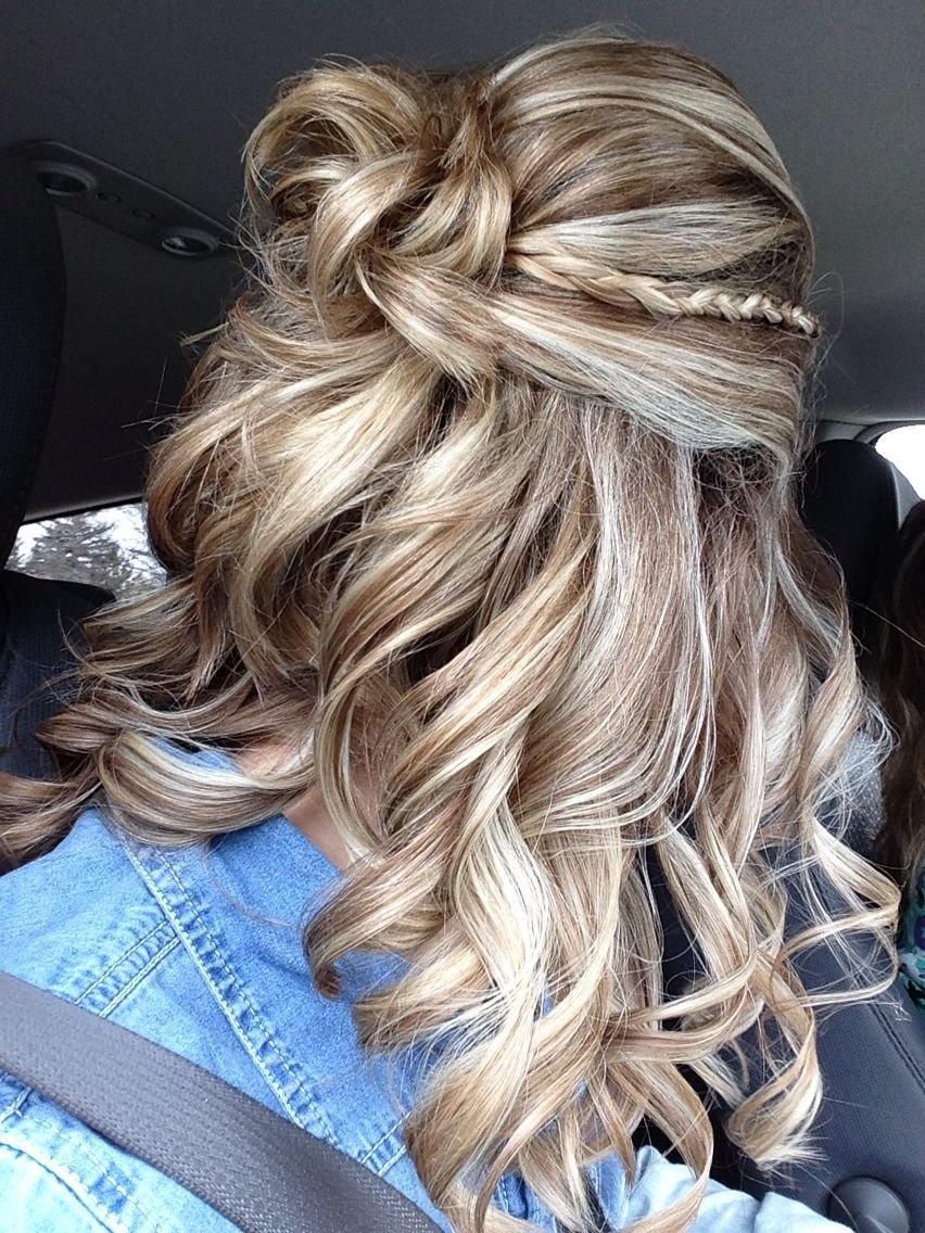 The Best Prom Hair 2015 Curly Braid Half Up Braids Hair Pictures