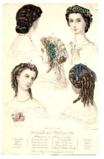 The Best 1860S Evening Hair Fashion Plate French From My Pictures