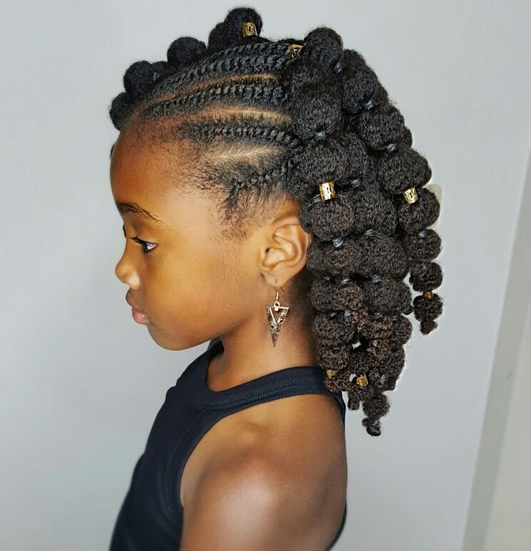 The Best Mini Puffs Natural Hairstyles For Kids Buns And Updo S Coiffure Petite Fille Coiffure Pictures