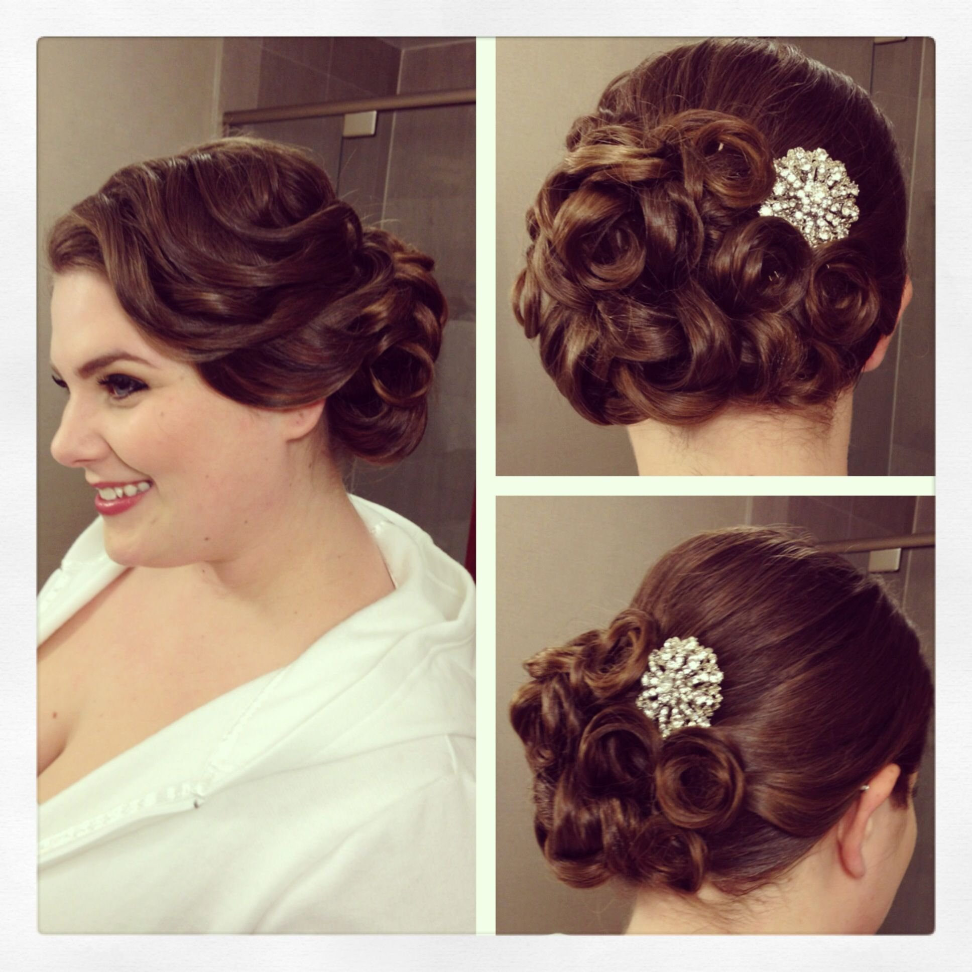 The Best Vintage Side Updo Vintage Hairstyle Pin Curls Bridal Pictures