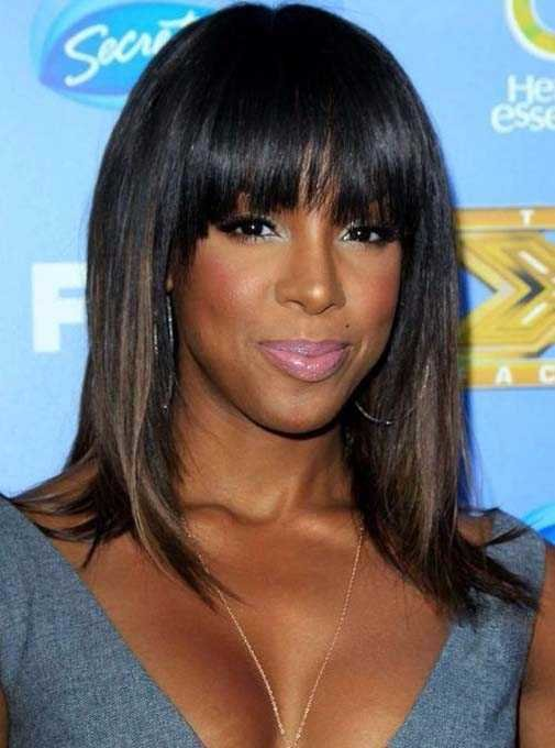 The Best Black Women S Weave Hairstyles With Bangs Hairstylesco Pictures