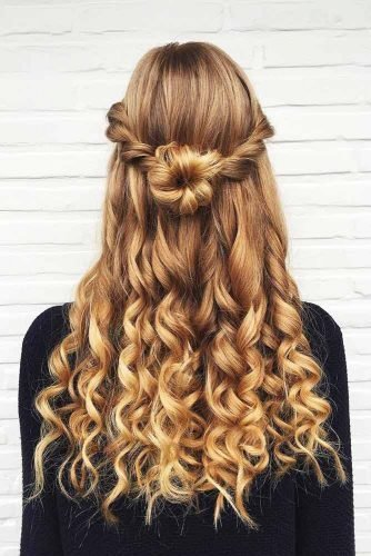 The Best Try 42 Half Up Half Down Prom Hairstyles Lovehairstyles Com Pictures