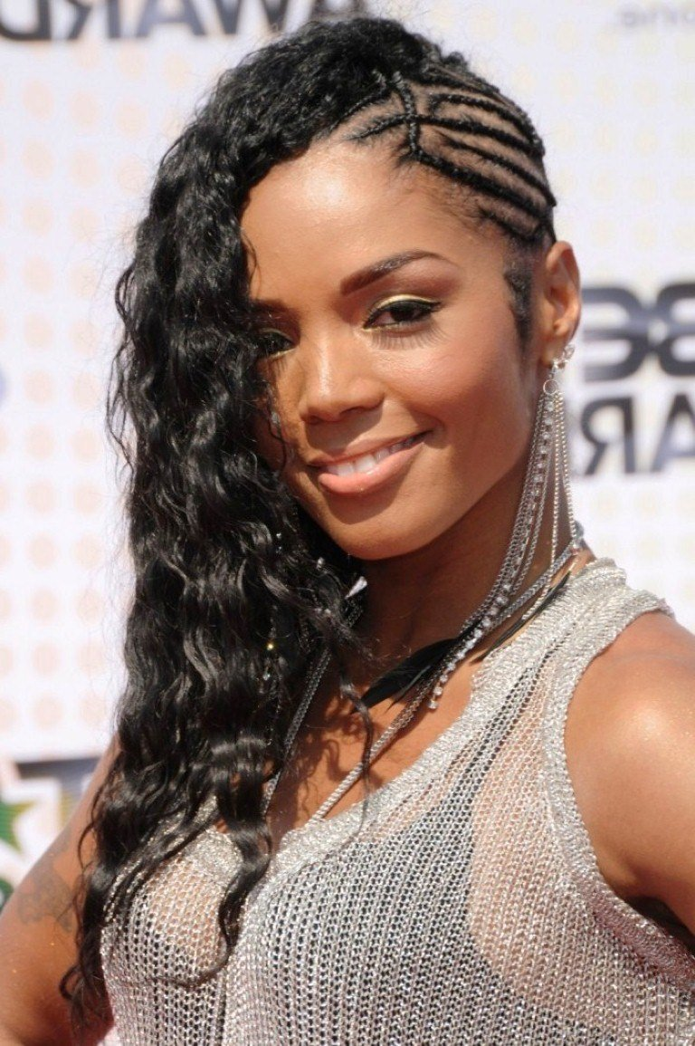 The Best Braids For Long Hair Black Women Braided Mohawk Hairstyle Pictures
