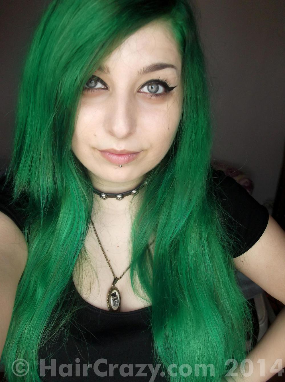 The Best Buy Dark Cool Toned Green Hair Colour At Haircrazy Com Pictures