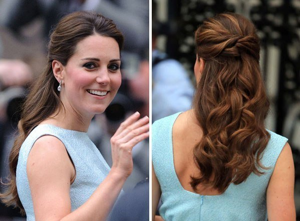 The Best Kate Middleton's Hair In Blue Dress — Get Her Look With Pictures