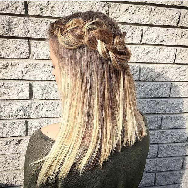 The Best 17 Chic Braided Hairstyles For Medium Length Hair Stayglam Pictures