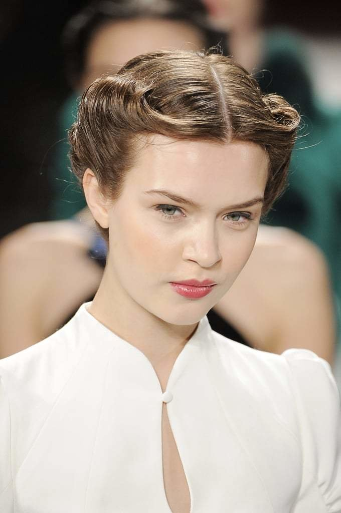 The Best A Chic 40S Style Rolled Updo Kept The Hair Off The Face Pictures