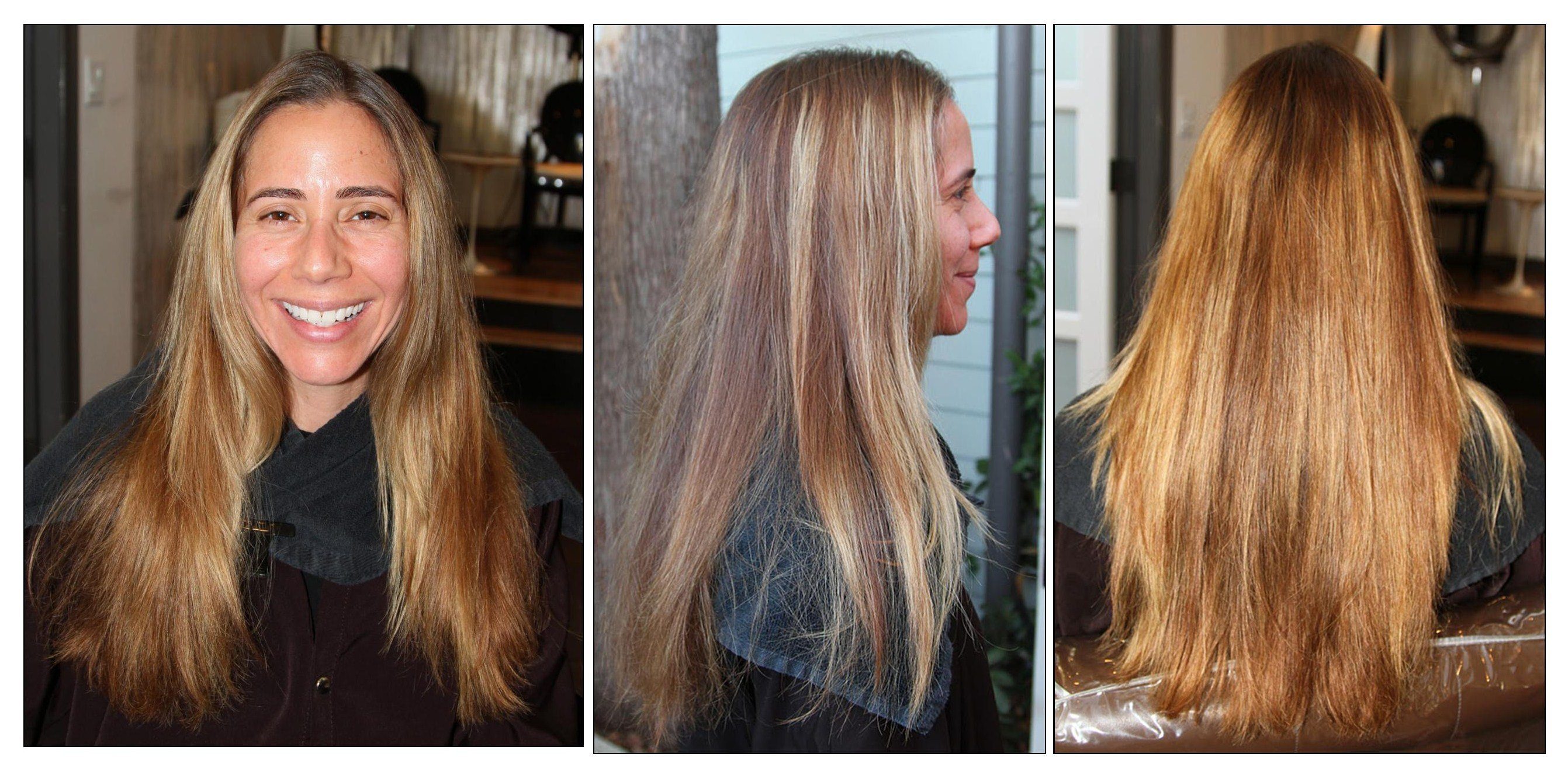 The Best Before After From Brassy Blonde To Rich Dark Chocolate Pictures