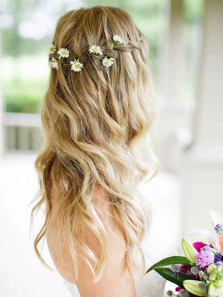 The Best 17 Wedding Hairstyles For Long Hair With Flowers Pictures