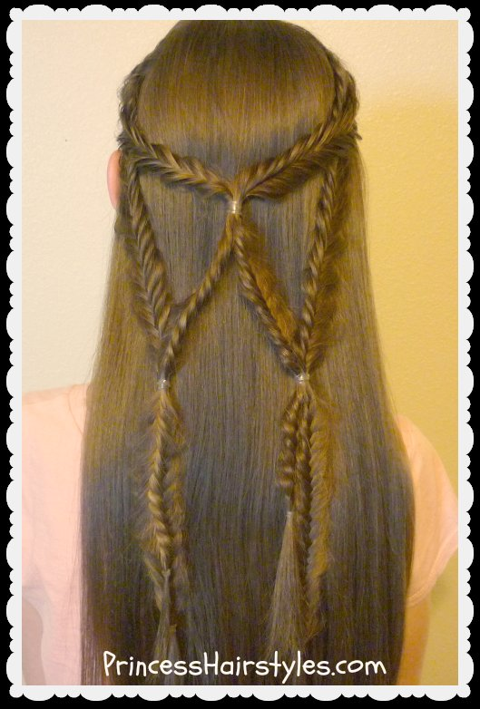 The Best Angel Wings Fishtail Braid Tie Back Hairstyle Pictures