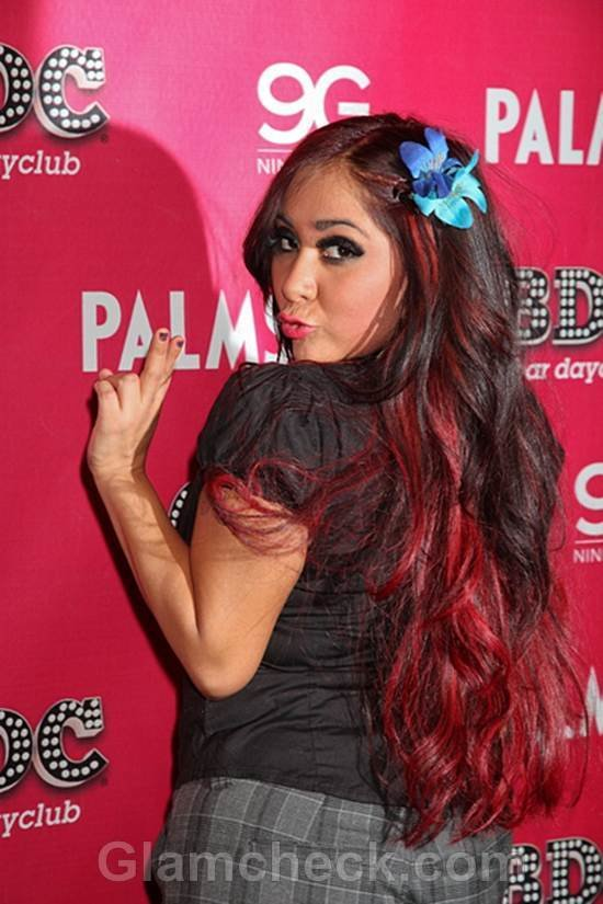 """The Best Nicole """"Snooki"""" Polizzi Sports New Hair Color For The New Year Pictures"""