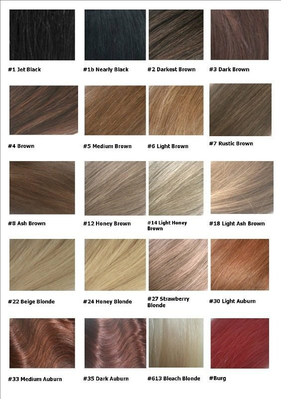 The Best Remy Hair Extensions Colour Chart Pictures