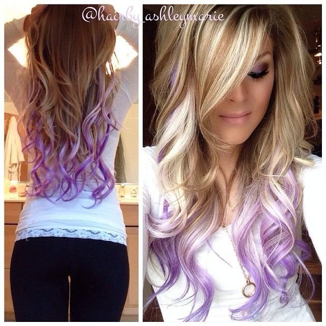 The Best Colorful Tips Dip Dyed Hair The Haircut Web Pictures